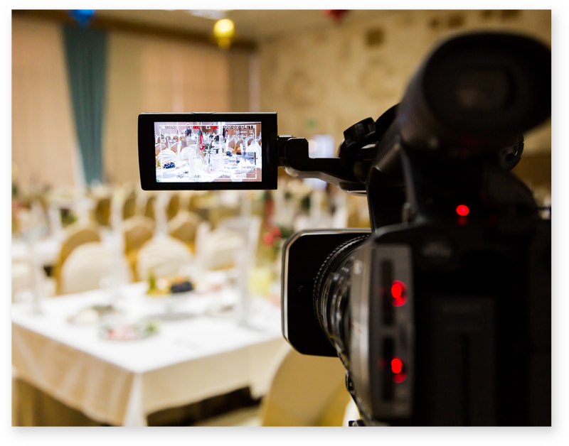 video production with high quality camera at event