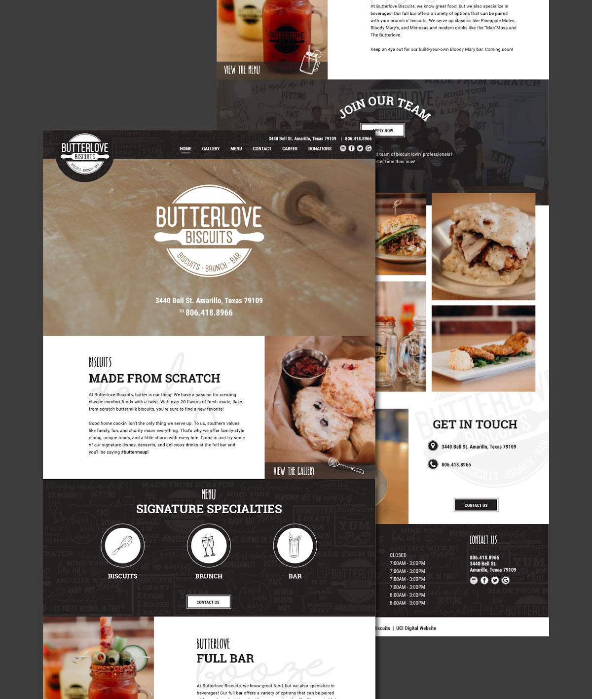 Butterlove Biscuits Website Preview