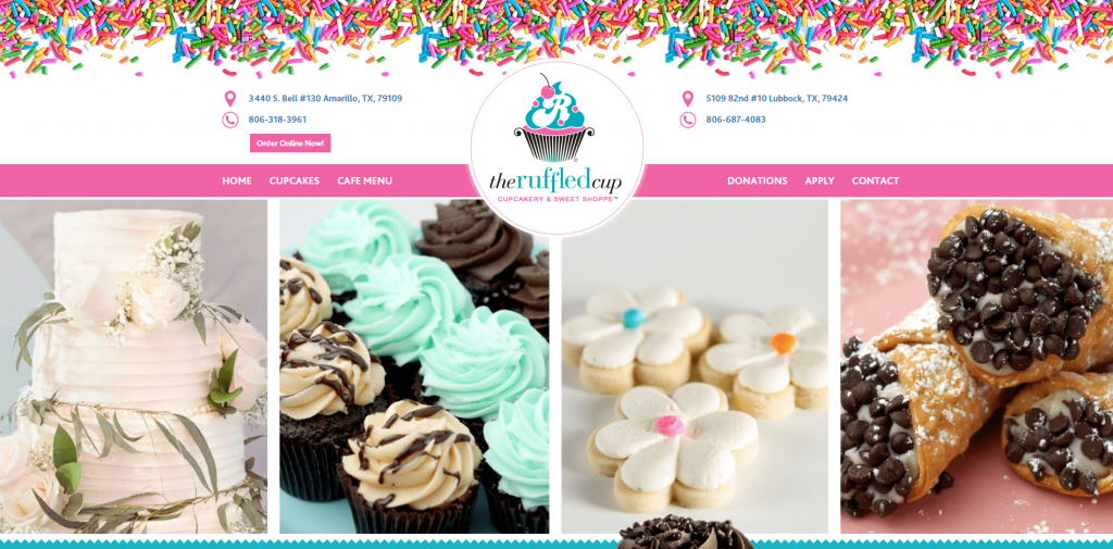 Ruffled Cup Website homepage by UCI Digital
