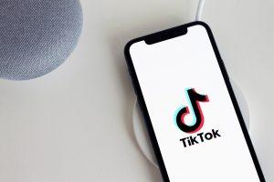 IPhone with TikTok logo
