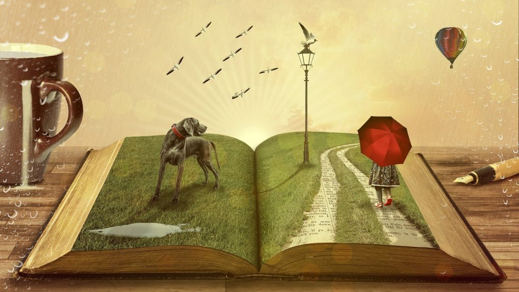 open book telling story